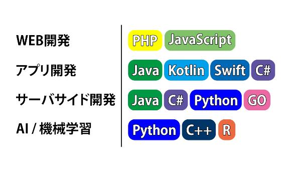 言語 種類 プログラミング